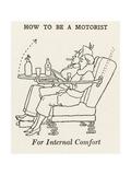 Internal Comfort Giclee Print by William Heath Robinson