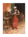 Coffee Sold in Istanbul Giclee Print by Warwick Goble