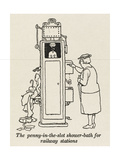 Railway Shower Giclee Print by William Heath Robinson