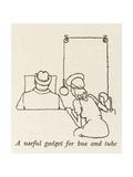 Reading Mirror Giclee Print by William Heath Robinson
