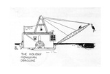 The Holiday Monighan Dragline Giclee Print by William Heath Robinson