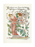 Plants, Rosa Giclee Print by Walter Crane