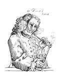 John Dennis, Caricature Giclee Print by William Hogarth