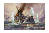 Battle of Dogger Bank Giclee Print by Willy Stower