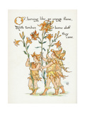 Plants, Lilium Species Giclee Print by Walter Crane