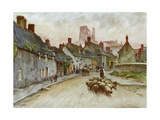 Wessex, Corfe Castle 1906 Giclee Print by Walter Tyndale