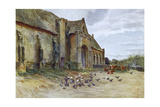 Wessex, Abbotsbury Barn Giclee Print by Walter Tyndale