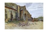 Wessex, Abbotsbury Barn Giclee Print by Walter Tyndale