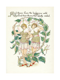 Plants, Rosa Species Giclee Print by Walter Crane