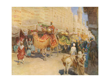 Wedding Procession, Cairo Giclee Print by Walter Tyndale