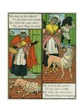 Old Mother Hubbard Giclee Print by Walter Crane