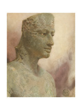 Pepi I, Pharaoh Statue Giclee Print by Winifred Brunton