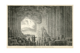 Fingal's Cave Giclee Print by W.M. Robertson