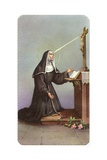 Saint Rita Praying Giclee Print