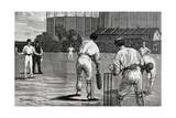 Cricket Match, England V Australia at the Oval 1882 Giclee Print by William Barnes Wollen
