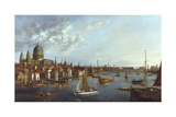 A View of the Thames Giclee Print by William James