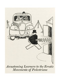 Accustoming Learners to Pedestrians Giclee Print by William Heath Robinson