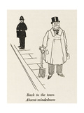 Town Folk Back from Country Giclee Print by William Heath Robinson