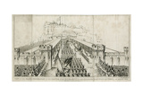 Grand Procession to Edinburgh Castle Giclee Print by W.h. Lizars