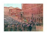 Italy, Siena Palio 1913 Giclee Print by Walter Tyndale