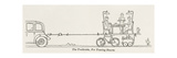 The Trailerette for Deserts Giclee Print by William Heath Robinson