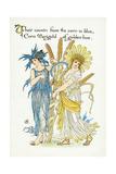 Chrysanthemum Segetum Giclee Print by Walter Crane
