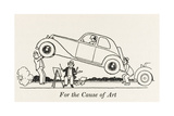 For the Cause of Art Giclee Print by William Heath Robinson