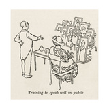 Public Speaking Giclee Print by William Heath Robinson