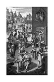 Food Preparation in the 17th Century Giclee Print