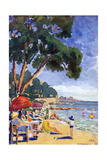 Beach Scene at Juan-Les-Pins Giclee Print