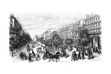 Paris, France - Grands Boulevards, Montmartre Giclee Print