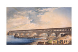 Building of the Bridge at Canaro Giclee Print