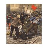 Riot, Police Injured Giclee Print