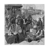 Immigrants Disembarking at Quebec, Canada Giclee Print