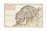Map, Europe, Scandinavia Giclee Print