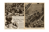 King Edward VIII Visits 'Queen Mary' Ocean Liner Giclee Print
