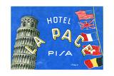 Label, Hotel La Pace, Pisa, Italy Giclee Print