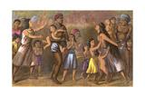 Dyaks Slave-Hunting Giclee Print