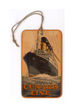Baggage Label for the Cunard Line Giclee Print
