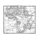 Map Africa Giclee Print