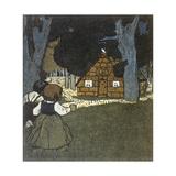 Hansel and Gretel and House Lámina giclée