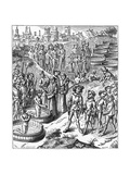 German Saxons Baptised Giclee Print