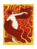 Jugend Front Cover, Naked Woman with Dragon Giclee Print