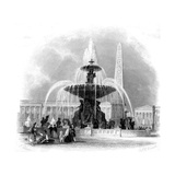 Paris, France - Place de La Concorde Giclee Print
