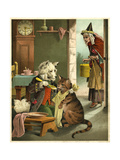 Old Mother Hubbard: Dog Feeding the Cat Giclee Print