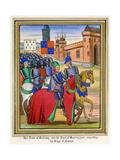 The Siege of Nantes 1380 Premium Giclee Print