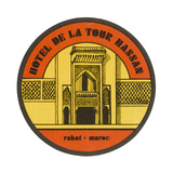 Label, Hotel at Rabat Giclee Print