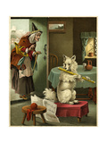 Old Mother Hubbard: Playing Flute Giclee Print