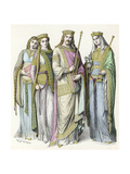 Charlemagne and Courtiers Giclee Print
