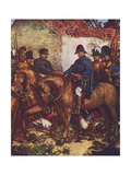 Wellington and Blucher Meet after Battle of Waterloo Giclee Print